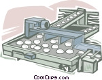 Cartoon photo of food assembly line